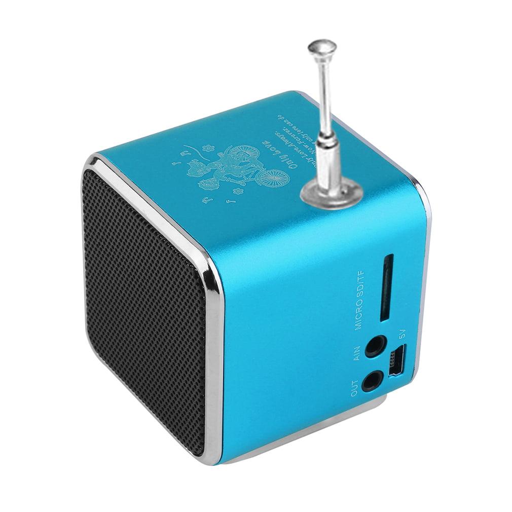 Portable Micro USB Mini Stereo Super Bass Speaker Music MP3/4 FM Radio