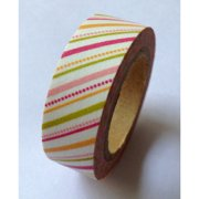 Love My Tapes Washi Tape 15mmX10m-Warm Pink Diagonal Stripes & Dots