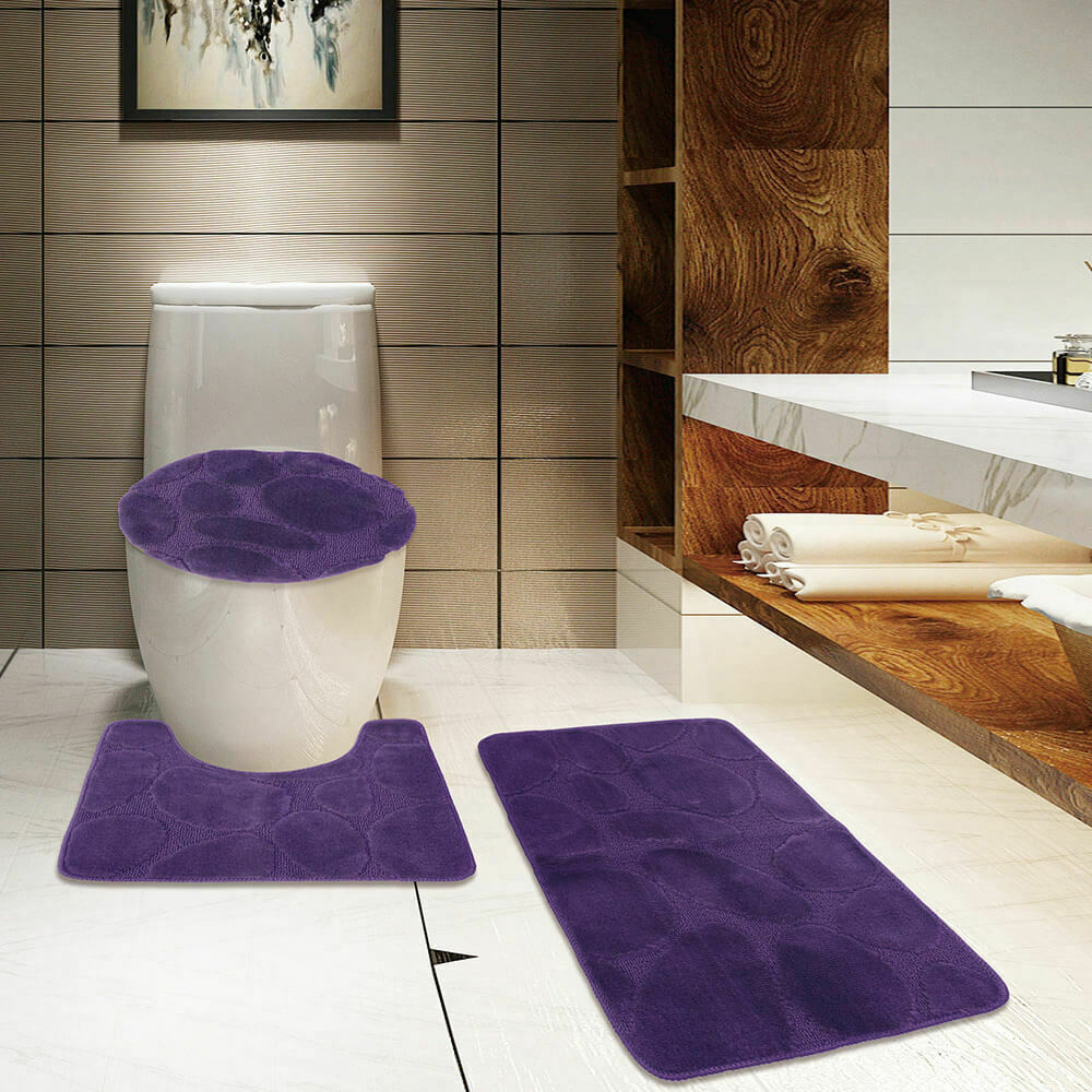 Toilet Accessories Non Slip Absorbent Toilet Seat Cover Bath Mat Lid Cover Vintage Poster Style Bicycle 3 Piece Set Rugs Soft Comfort Bathroom Mats Home Elektroelement Com Mk