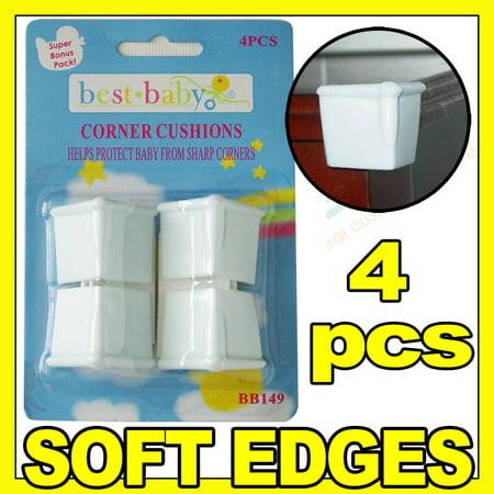 4 Pc Kid Safety Edge Corner Cushion Protectors Baby Table Desk Soft Safe