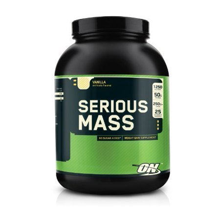 OPTIMUM NUTRITION Serious Mass High Calorie Weight Gain/Muscle Gain Protein Powder, Vanilla - 6 Pound