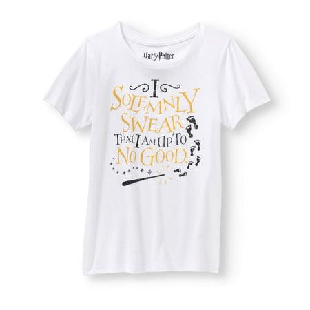 a8a6b4ff6de Harry Potter - Harry Potter Girls Gold Glitter T-Shirt - Walmart.com