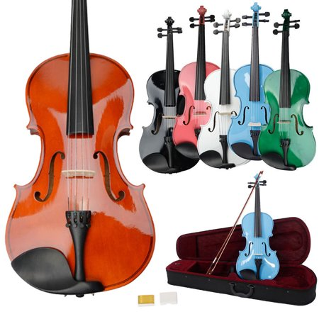 Zimtown 15-inch 16-inch Solid Wood Acoustic Viola with Case, Bow, Rosin, Bridge and Strings for Student