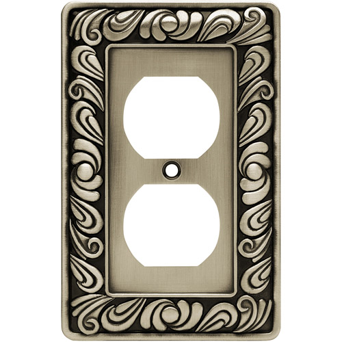 Brainerd Paisley Single-Duplex Wall Plate, Available in Multiple Colors