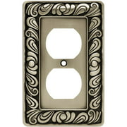 Franklin Brass Paisley Single-Duplex Wall Plate, Available in Multiple Colors