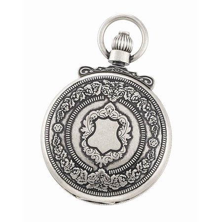 Antique Silver Hunter Case Quartz Pocket Watch