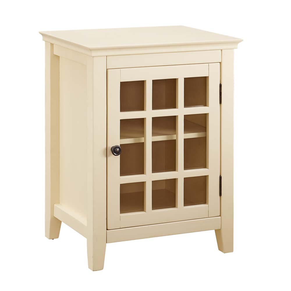 Linon Leslie Single Door Cabinet 26 Inches Tall Multiple Colors