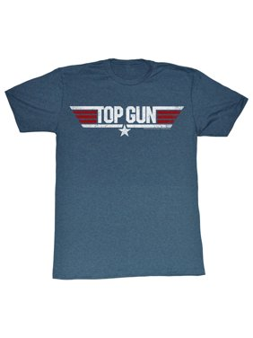 0e105e5f6 Product Image Top Gun 80's Action Military Movie Logo Navy Blue Adult T- Shirt
