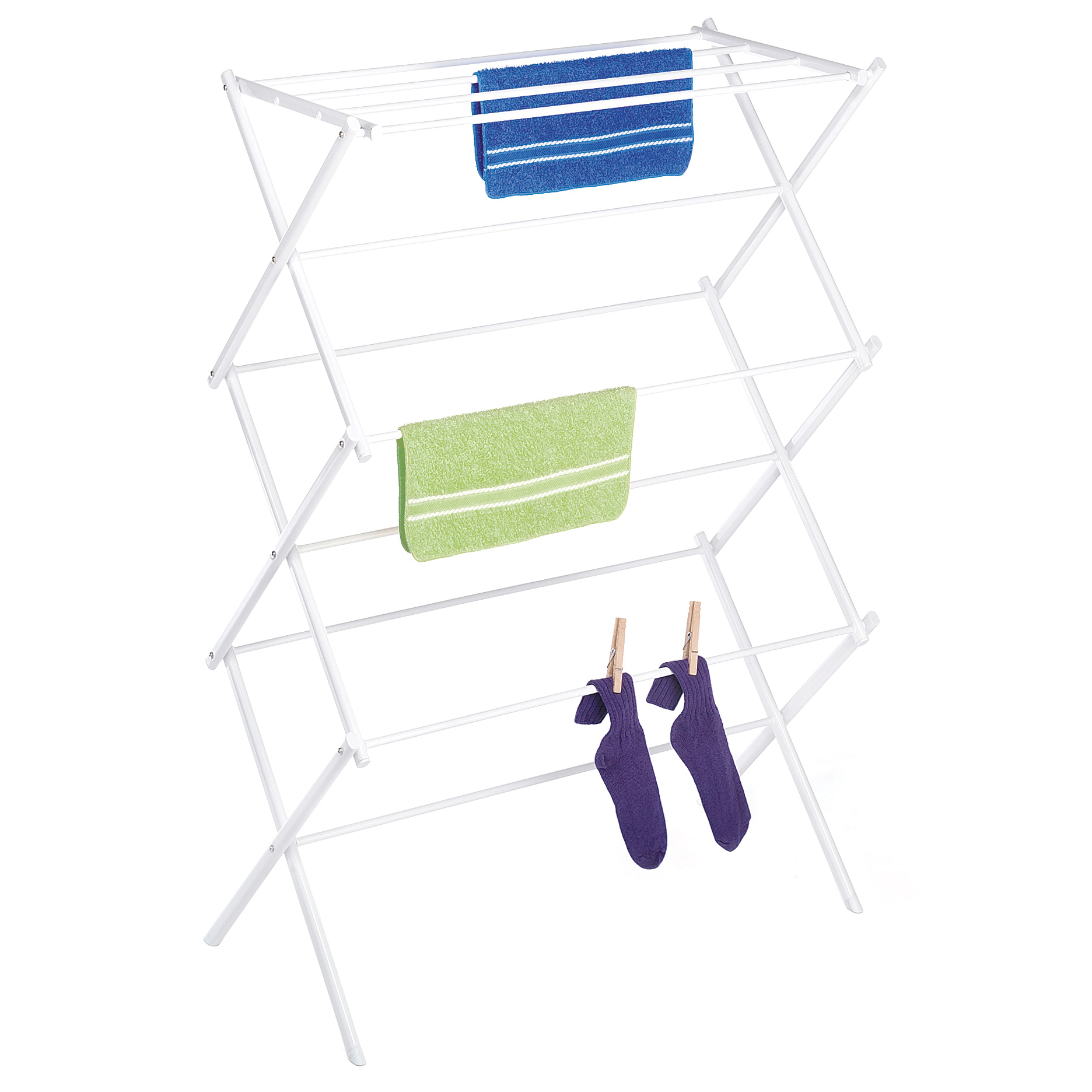 Whitmor Folding Drying Rack White