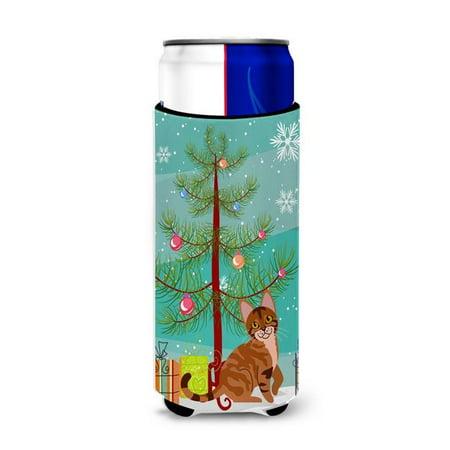 Carolines Treasures BB4431MUK Sokoke Cat Merry Christmas Tree Michelob Ultra Hugger for Slim Cans - image 1 de 1