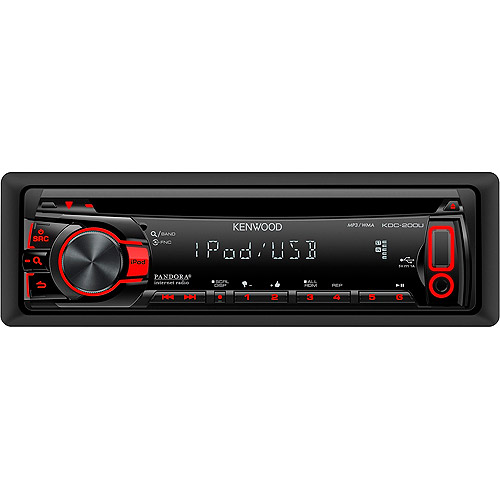 Kenwood KDC-200U CD Receiver with Front USB Input