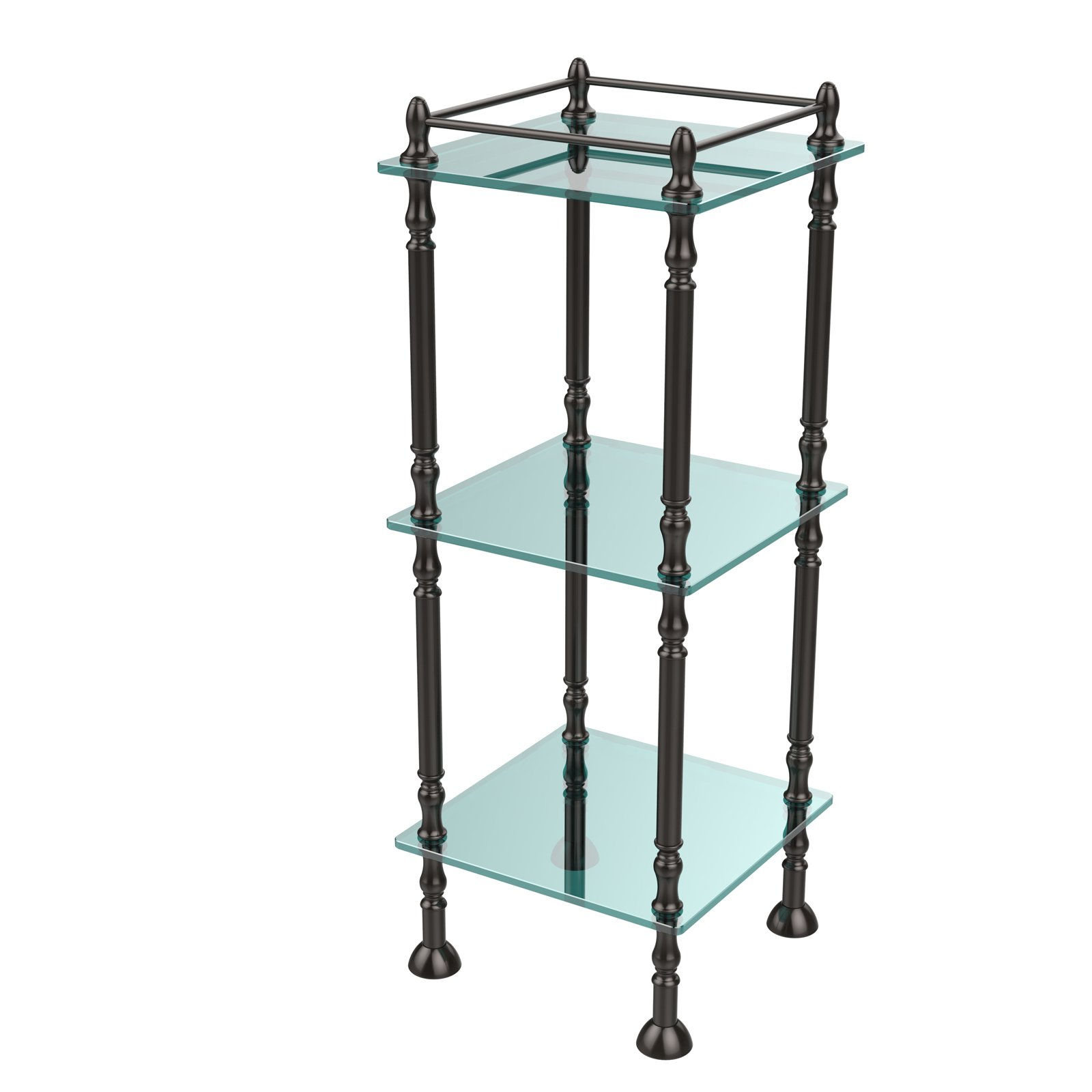 Three Tier Etagere with 14 Inch x 14 Inch Shelves