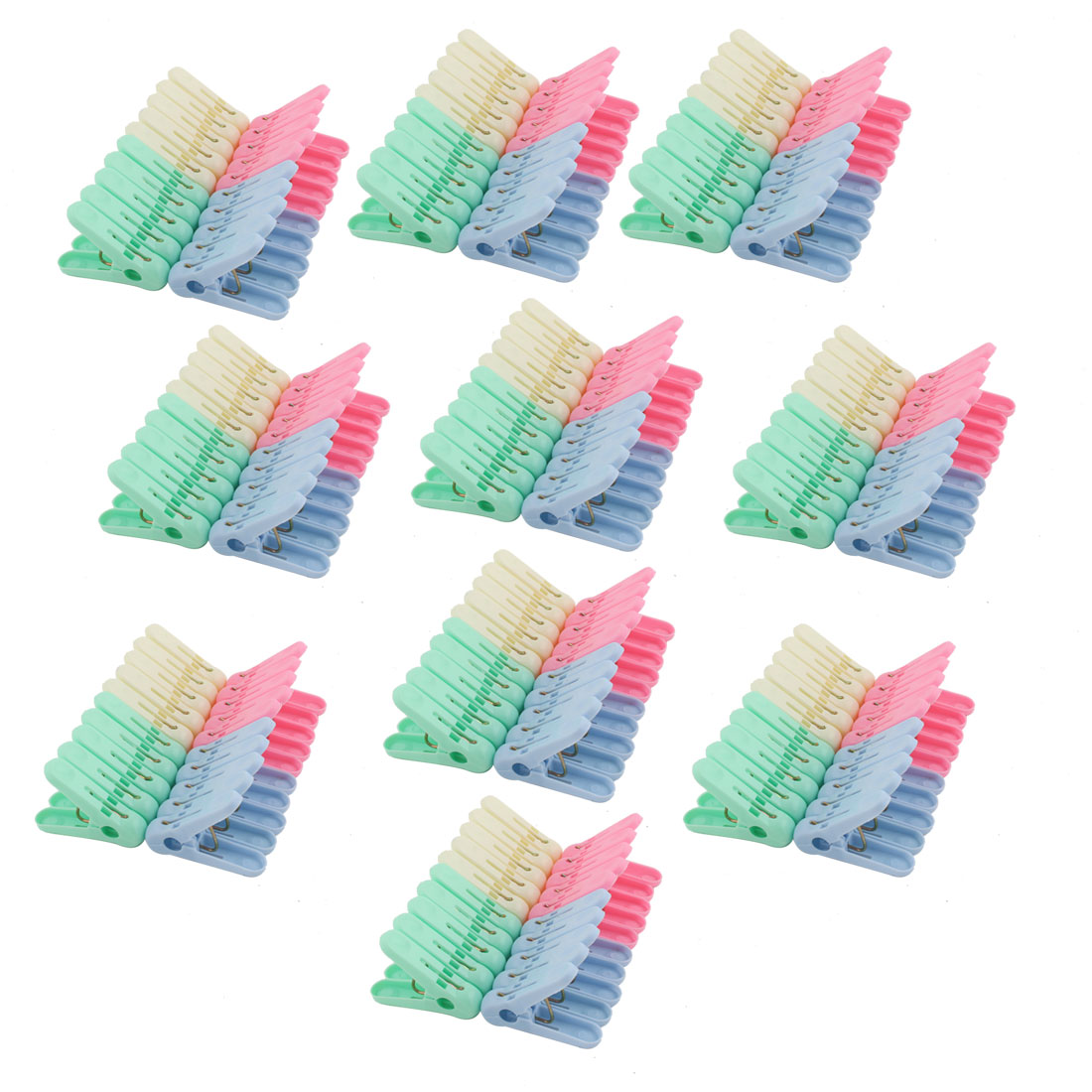 Unique Bargains Household Plastic Socks Towel Bag Clothing Clothes Clips Clamp Clothespin 200pcs
