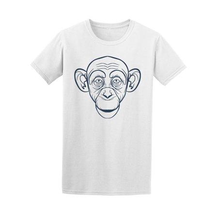 Monkey Head Funny Doodle Tee Men