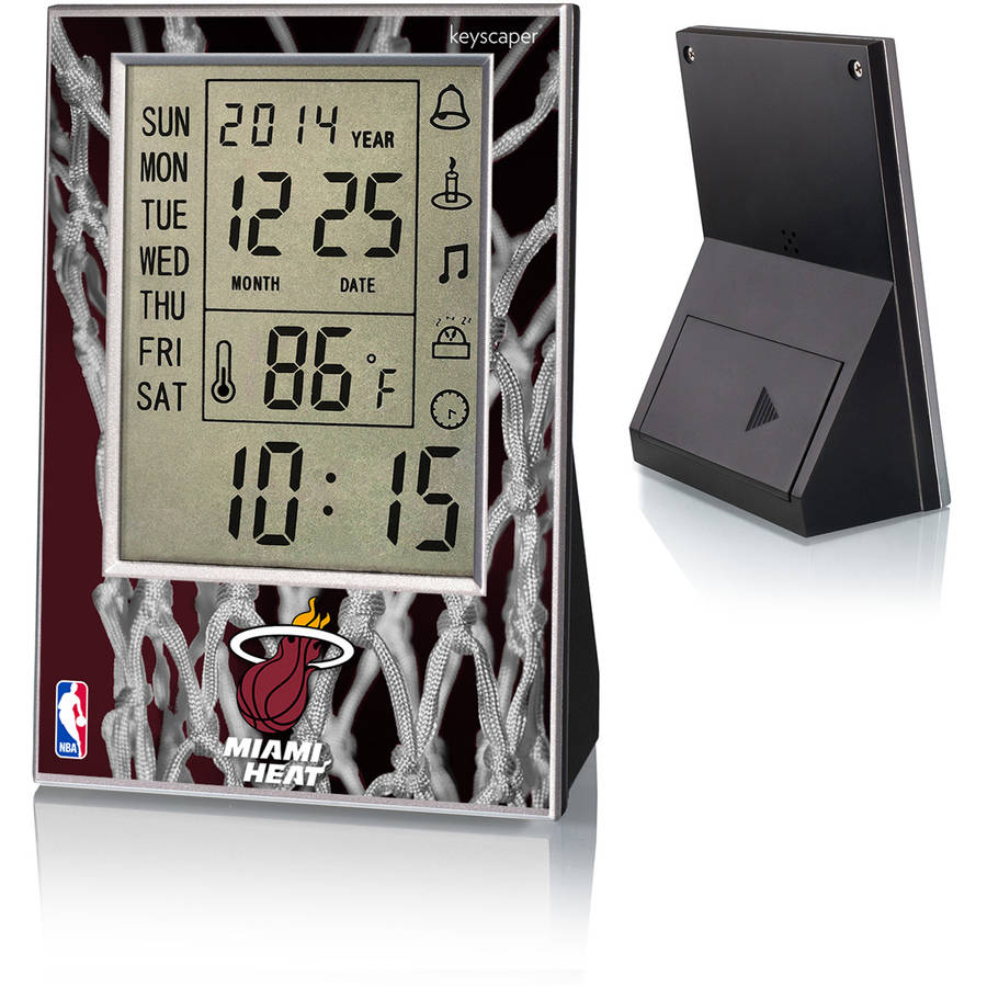 Miami Heat Net Design Digital Clock by Keyscaper