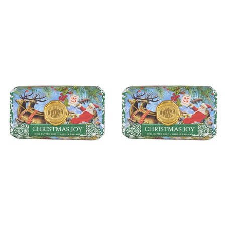 Michel Design Works Large Bath Bar Soap 2-Pack Christmas Joy Unisex Bath Bar