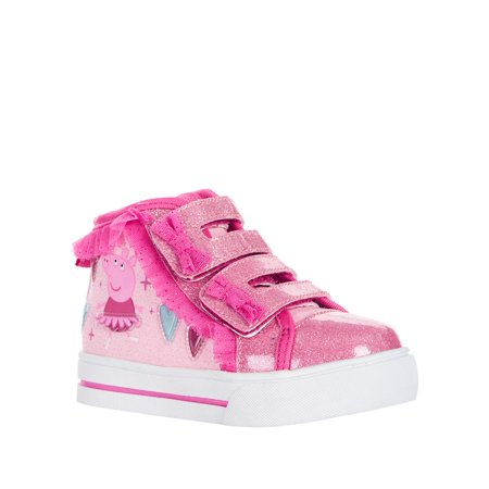 Peppa Pig Toddler Girls' Lighted High Top Ruffle