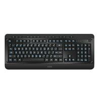 Azio Keyboard Tri-Color Backlit Large Print Wired USB KB505U