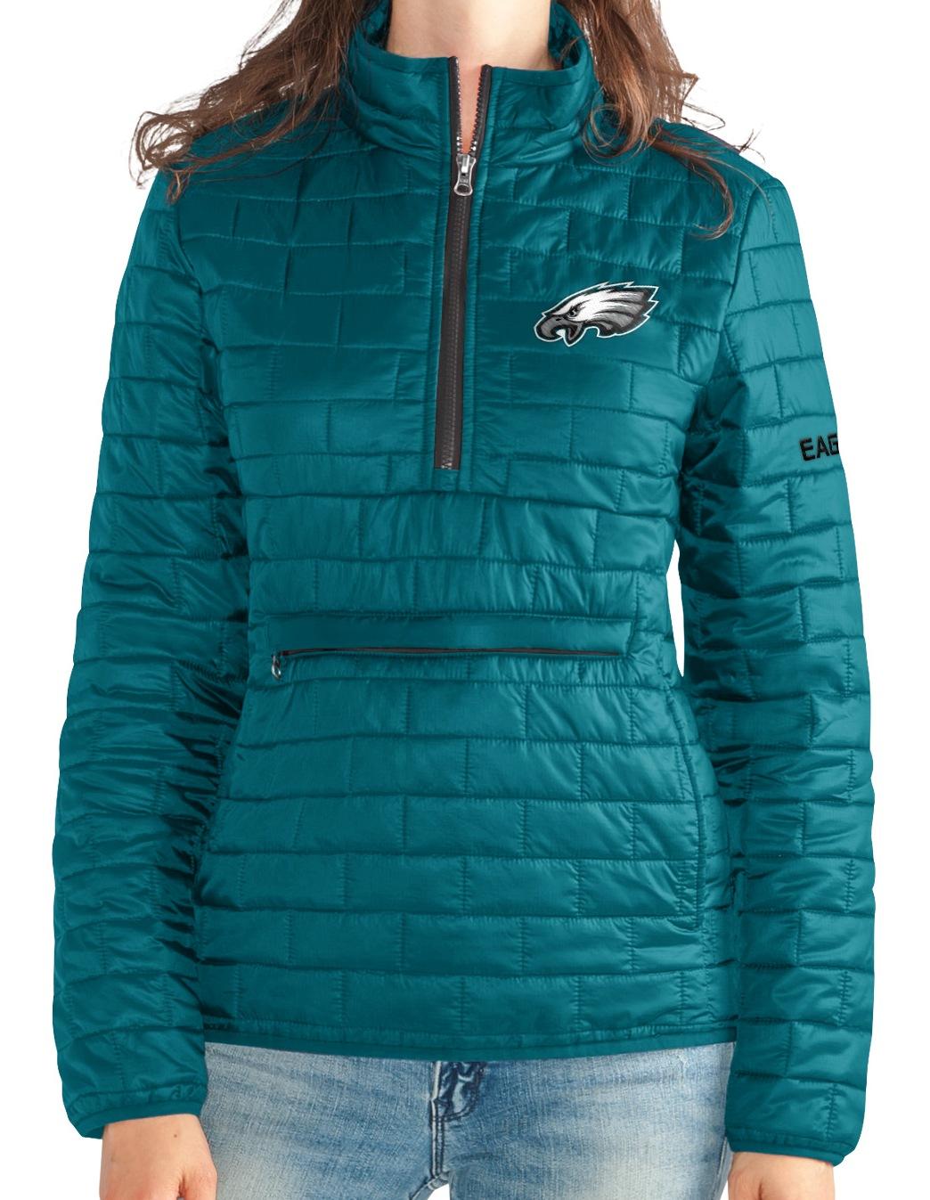 "Philadelphia Eagles Women's NFL ""Spike"" Half Zip Packable Quilted Jacket by G-III Sports"