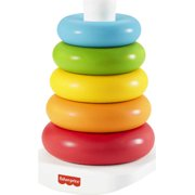 Fisher-Price Rock-A-Stack with 5 Rings, Plant-Based Toy