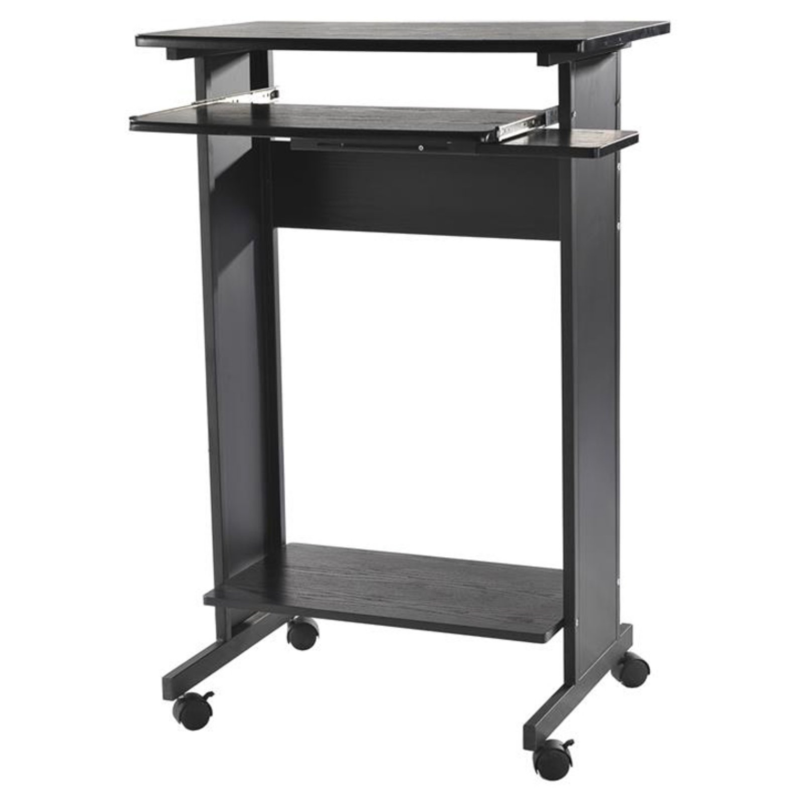 Homcom 30 In Portable Standing Workstation Computer Desk Walmart Com