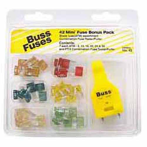 Bussmann® ATM Fuse Bonus Pack 43 pc Carded Pack