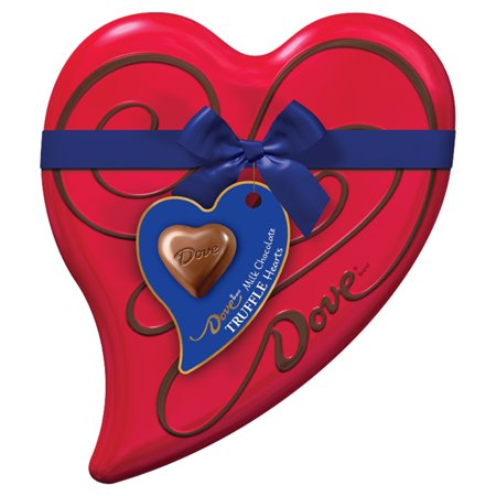 DOVE Valentine's Milk Chocolate Truffles Heart Tin, 6.5 oz