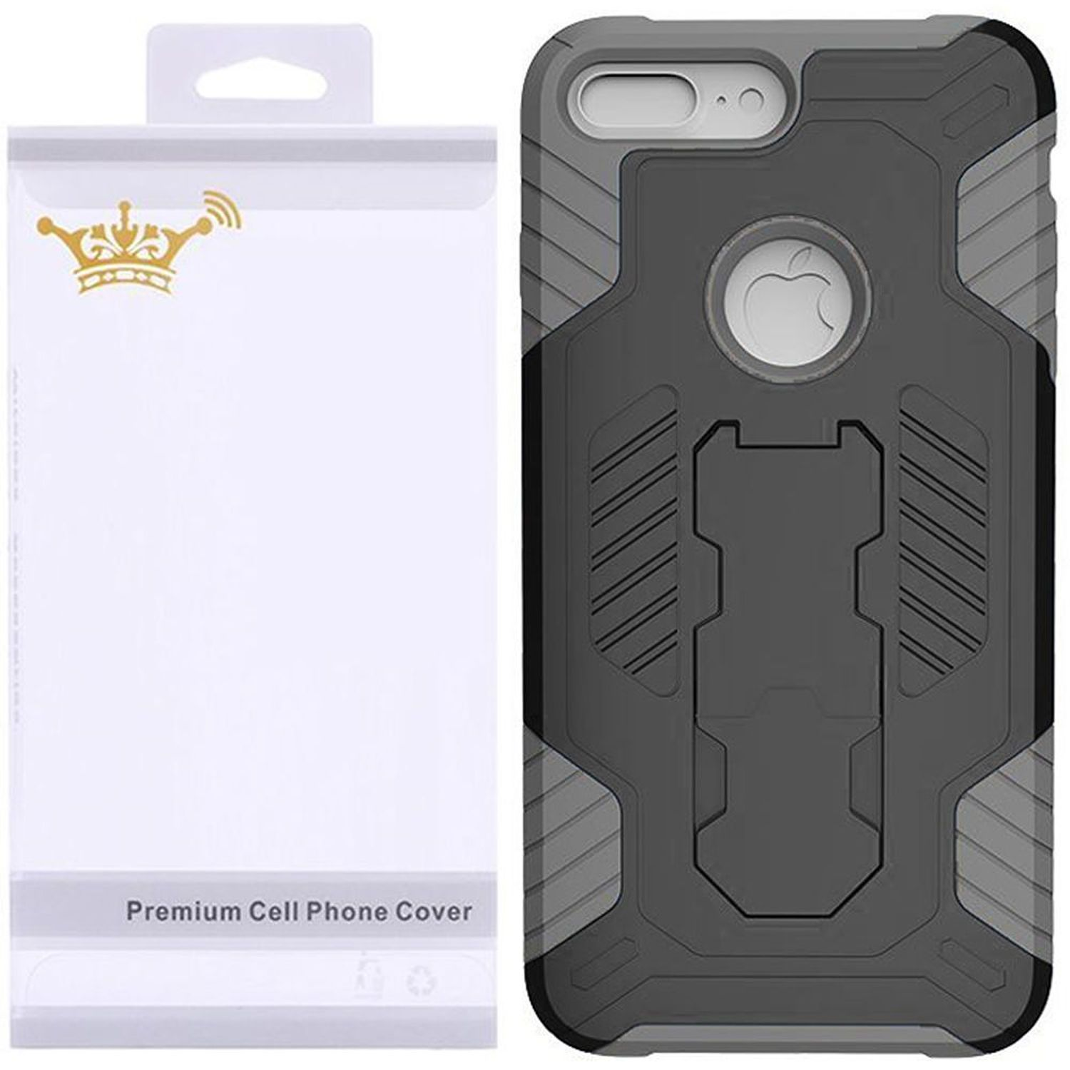 Iphone 7 Case By Insten Dual Layer Shock Absorbing Hybrid Stand