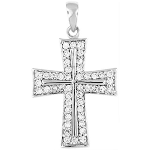 Doma Jewellery MAS02028 Sterling Silver Religious Pendant with CZ