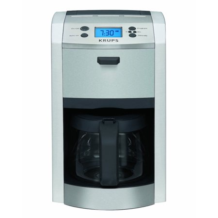 KRUPS KM8105 12-CUP DIE-CAST PROGRAMABLE COFFEE MAKER STAINLESS STEEL BRAND (Krups Stainless Steel)