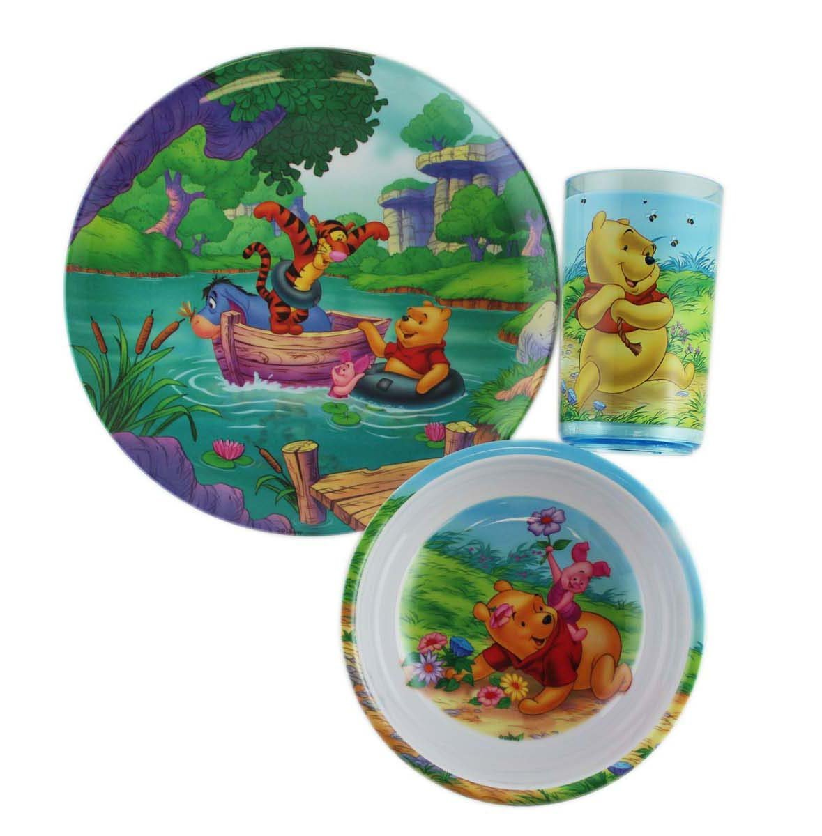 Disneyu0027s Winnie the Pooh Bowl Plate and Cup Childrenu0027s Dinnerware Set  sc 1 st  Walmart & Disneyu0027s Winnie the Pooh Bowl Plate and Cup Childrenu0027s Dinnerware ...