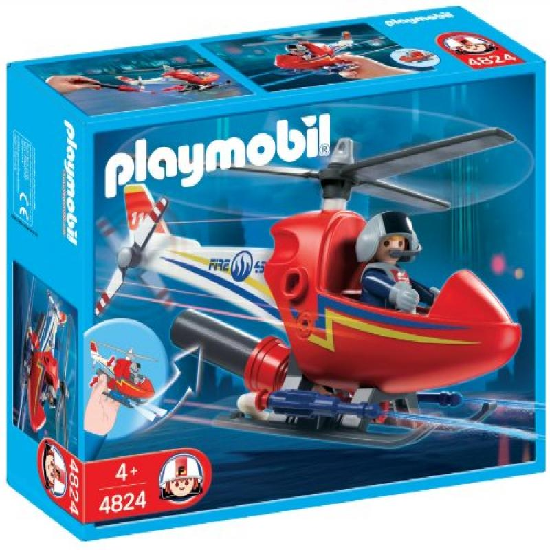 PLAYMOBIL Firefighting Helicopter Construction Set by
