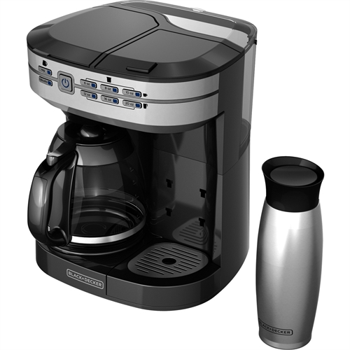 Black & Decker Cafe Select Dual Brew Coffeemaker with Travel Mug