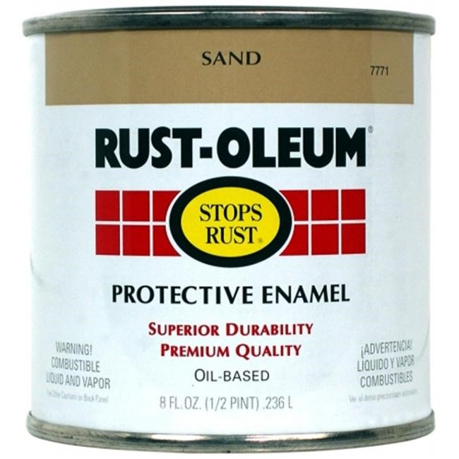 Rust Oleum 7771-730 Protective Enamel 0.5 pt Gloss Sand