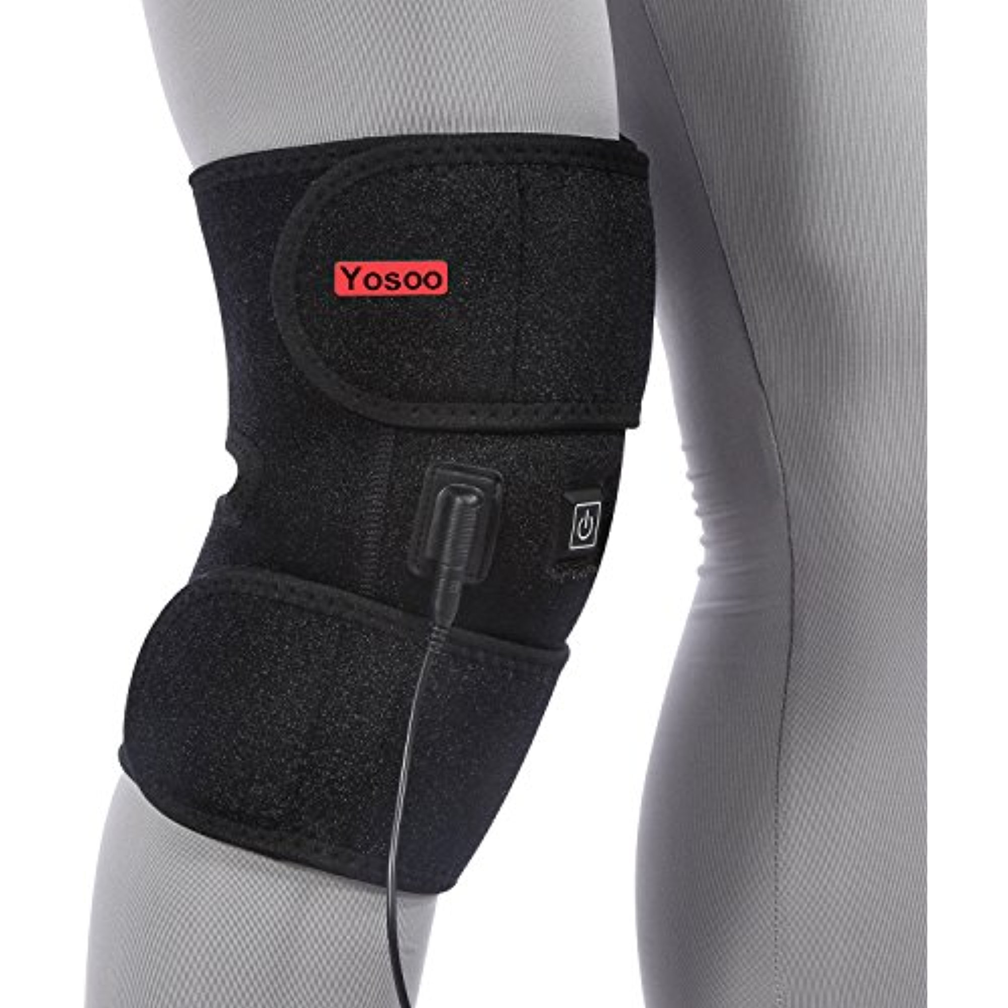 Yosoo Heated Pad Heat Therapy Knee Wrap Brace Thermotherapy Heating Pad with Pocket