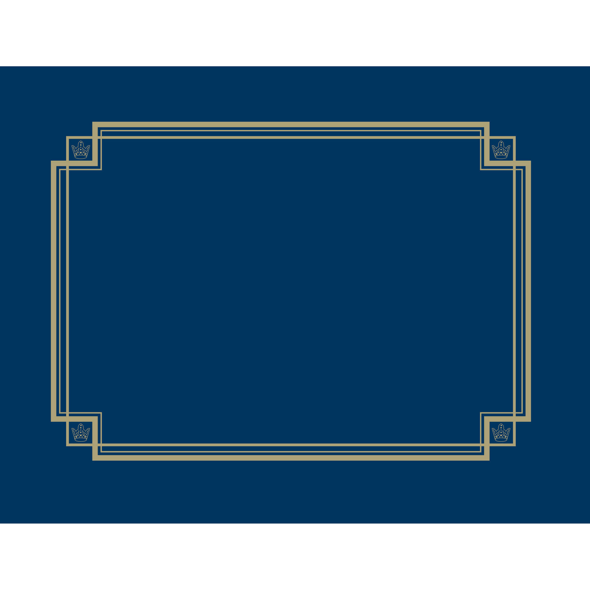 Great Papers! Navy Linen Certificate Covers, 3ct