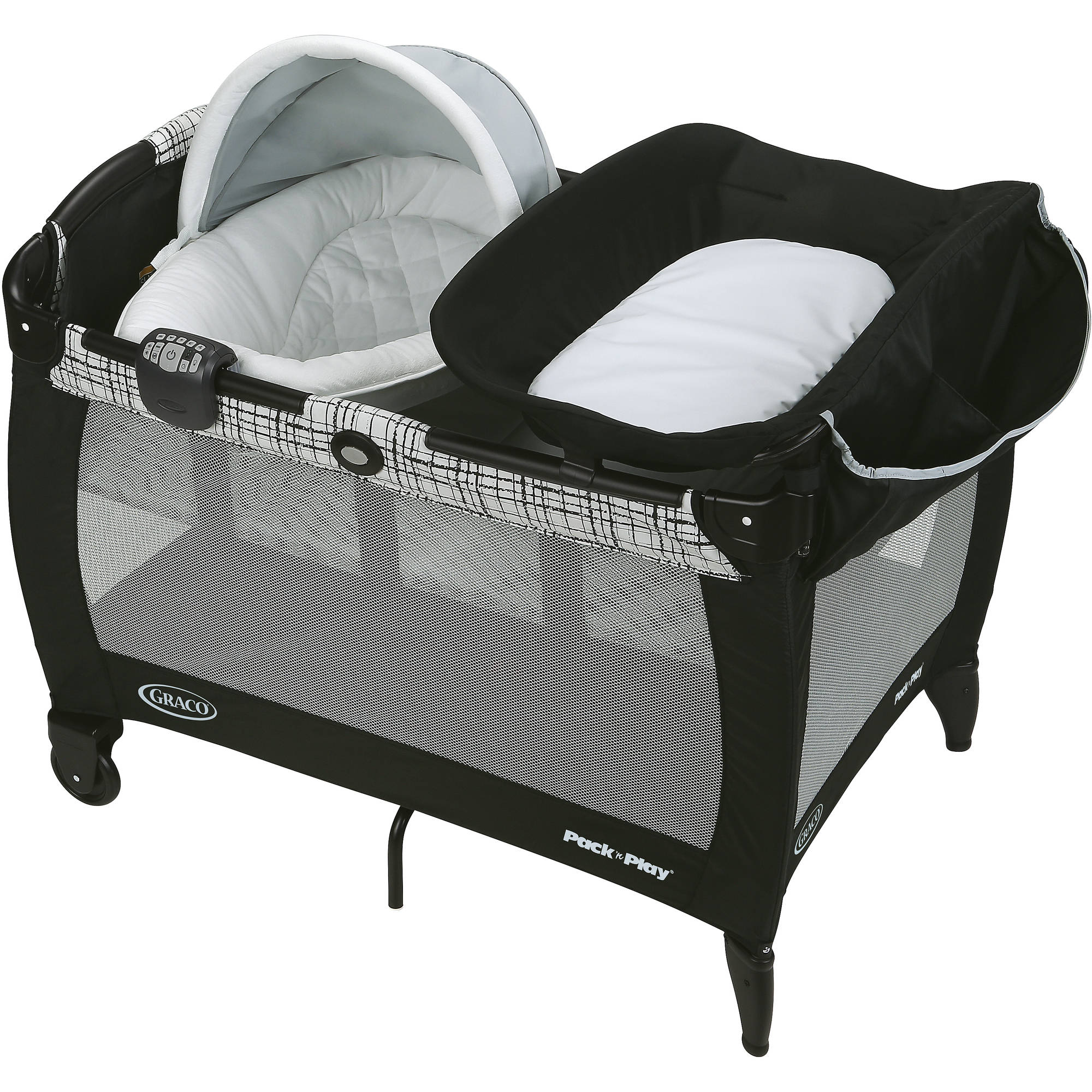 Graco Pack 'n Play Newborn Napper Playard with Soothe Surround Technology Bassinet, Teigen