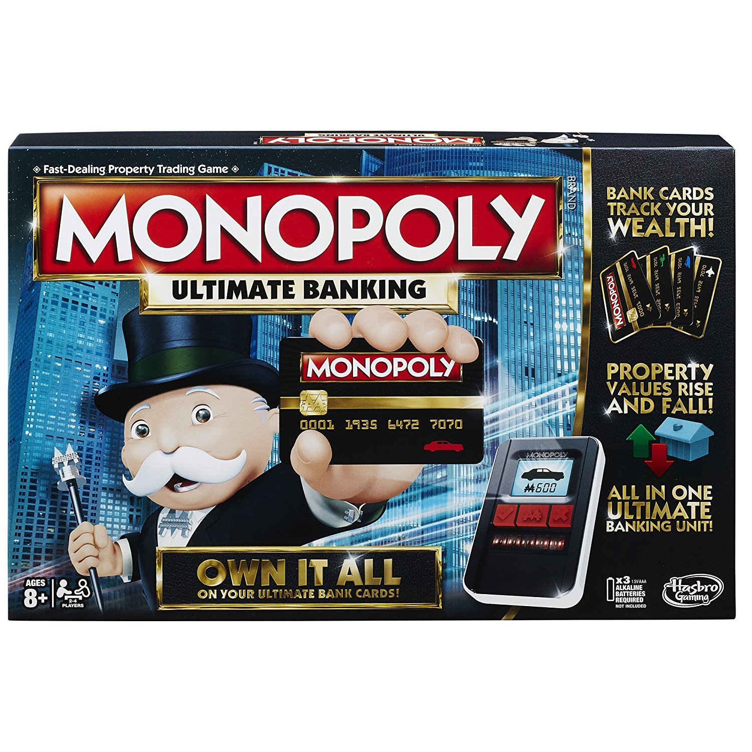 Monopoly Game: Ultimate Banking Edition, Fast shipping,Brand Hasbro by