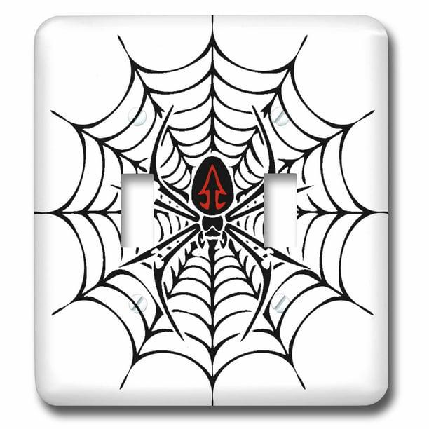 3drose Black Widow Spider In A Web Double Toggle Switch Lsp 58923 2 Walmart Com Walmart Com