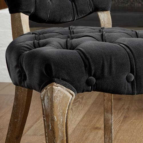 Christopher Knight Home Bates Tufted Charcoal Fabric Dining Chairs Set Of 2 By
