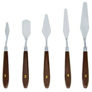 US Art Supply 5 Piece Stainless Painting Palette Knife Set Mixing Paint Art