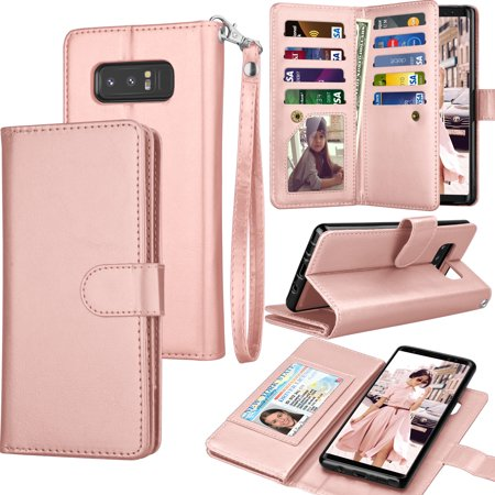 release date: 31f20 d6d7c Galaxy Note 8 Case, Note 8 Wallet Case, Samsung Galaxy Note 8 PU Leather  Case, Tekcoo Luxury Cash Credit Card Slots Holder Carrying Flip Cover ...