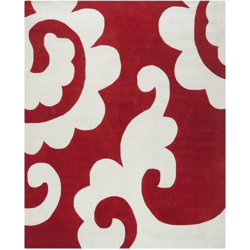 Safavieh Modern Art Red / Ivory Original Rug
