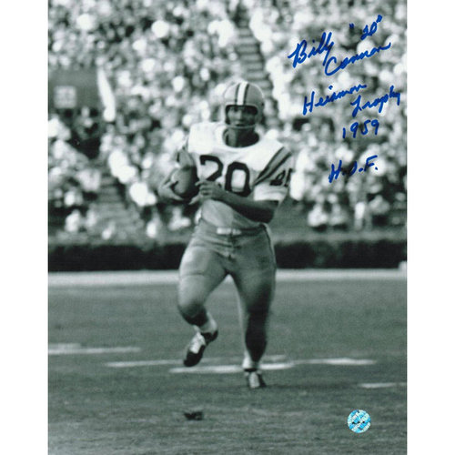 """NCAA - Billy Cannon LSU Tigers Autographed 8x10 Photograph - Inscribed """"Heisman Trophy 1959"""" and """"HOF"""" -Running-"""