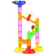 Binmer Plastic House Building Blocks Toys DIY Maze Balls Track Construction Marble Run