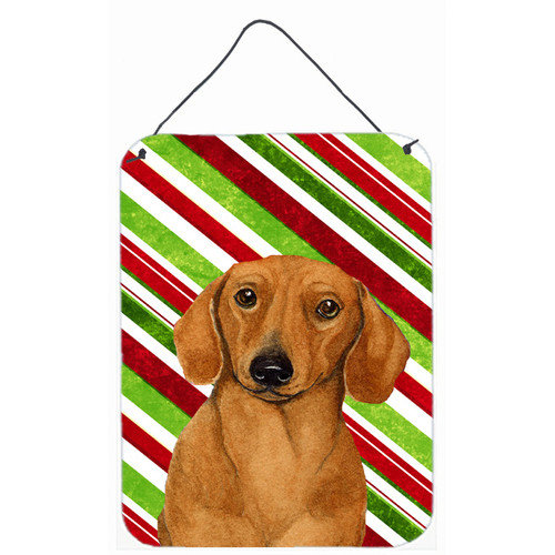 Caroline's Treasures Dachshund Candy Cane Holiday Christmas Hanging by Lyn Cook Graphic Art Plaque