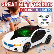 Novashion 8 inch LED Light Car Toys, Kids Light Up Car Play Vehicles with Flashing Lights/Music,  Sound Toys Gift for Boys, Girls, Toddlers Ages 3+