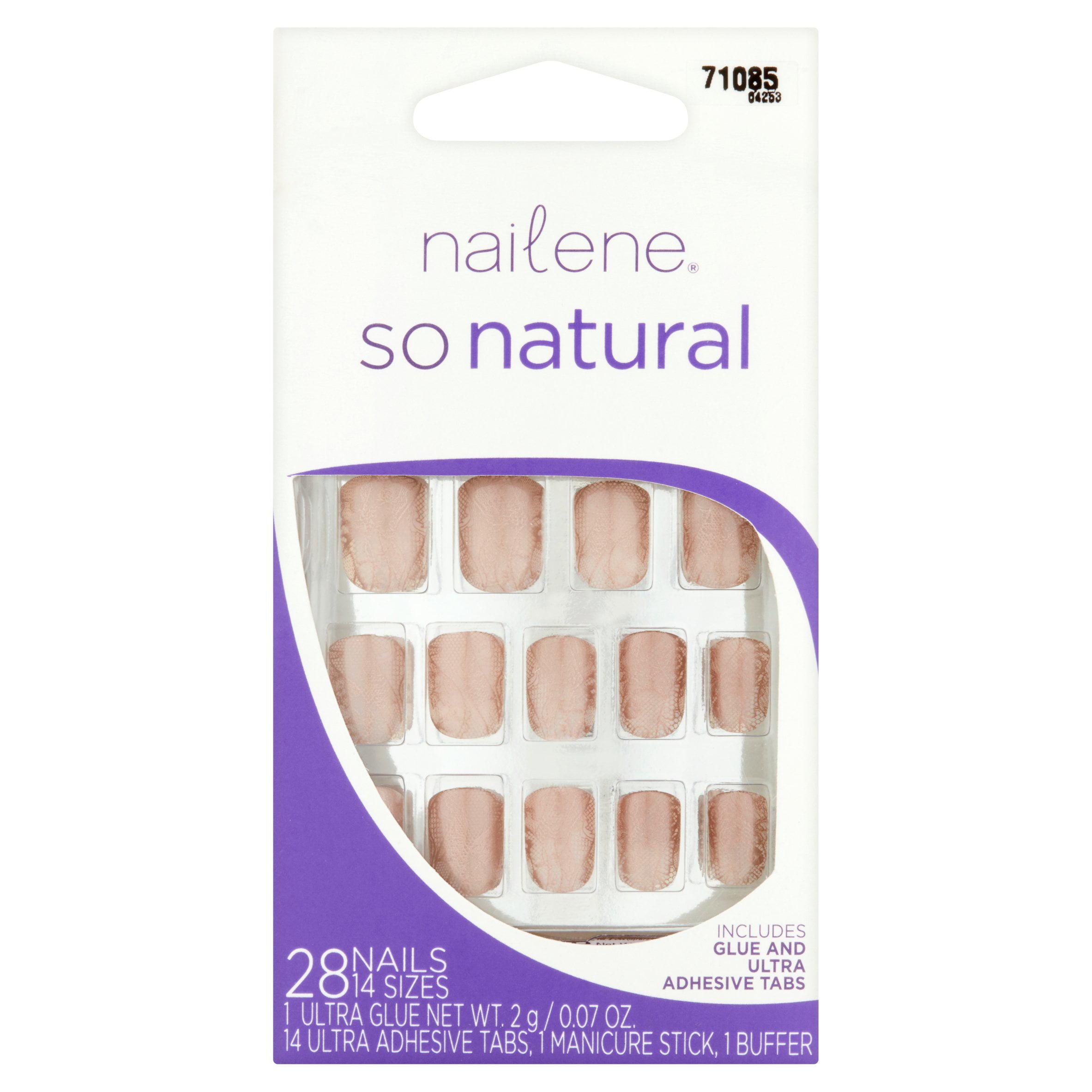Nailene So Natural Nails, 28 count - Walmart.com
