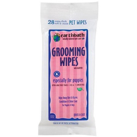Grooming Wipes - Earthbath Grooming Wipes for Puppies, 28 Count