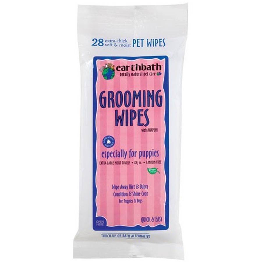 Earthbath Grooming Wipes for Puppies, 28 Count